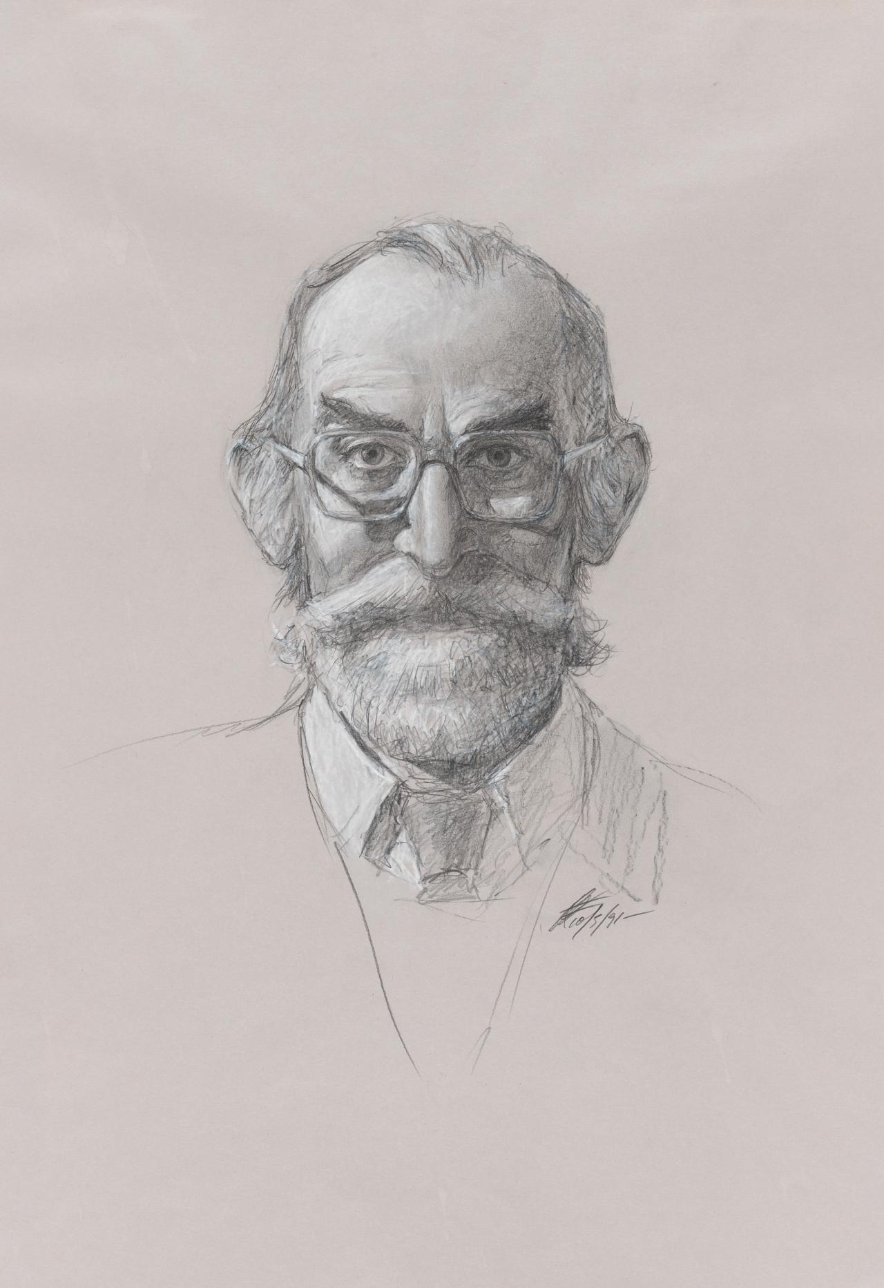 Study for portrait of Dr Joseph Browne AO OBE