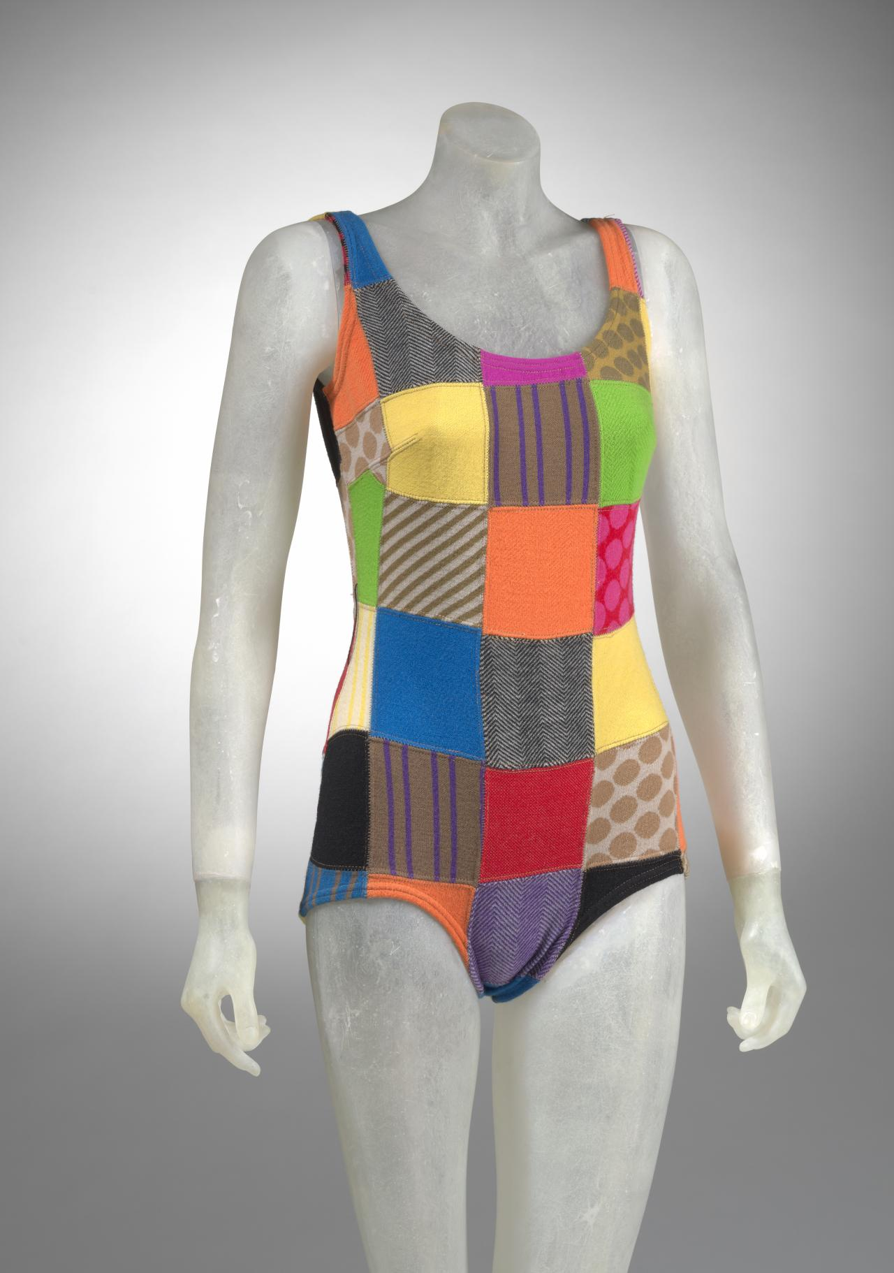 Patchwork swimsuit