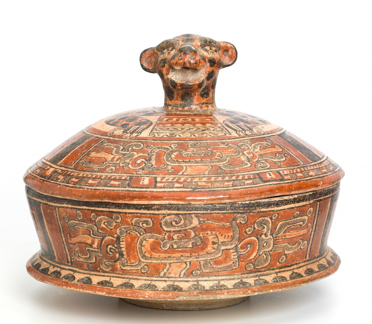 Jaguar-lidded bowl