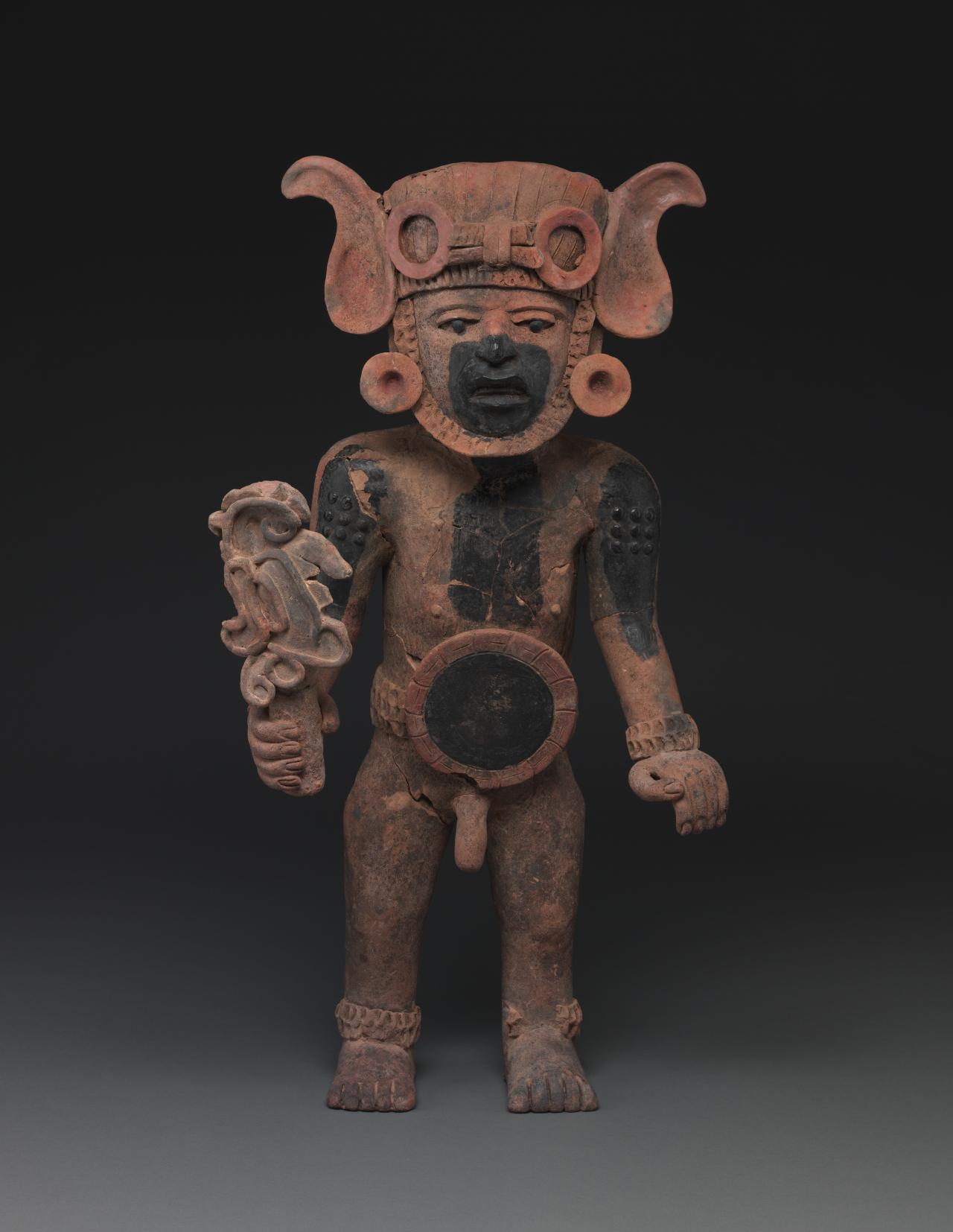 Warrior priest impersonating Xiuhtecuhtli