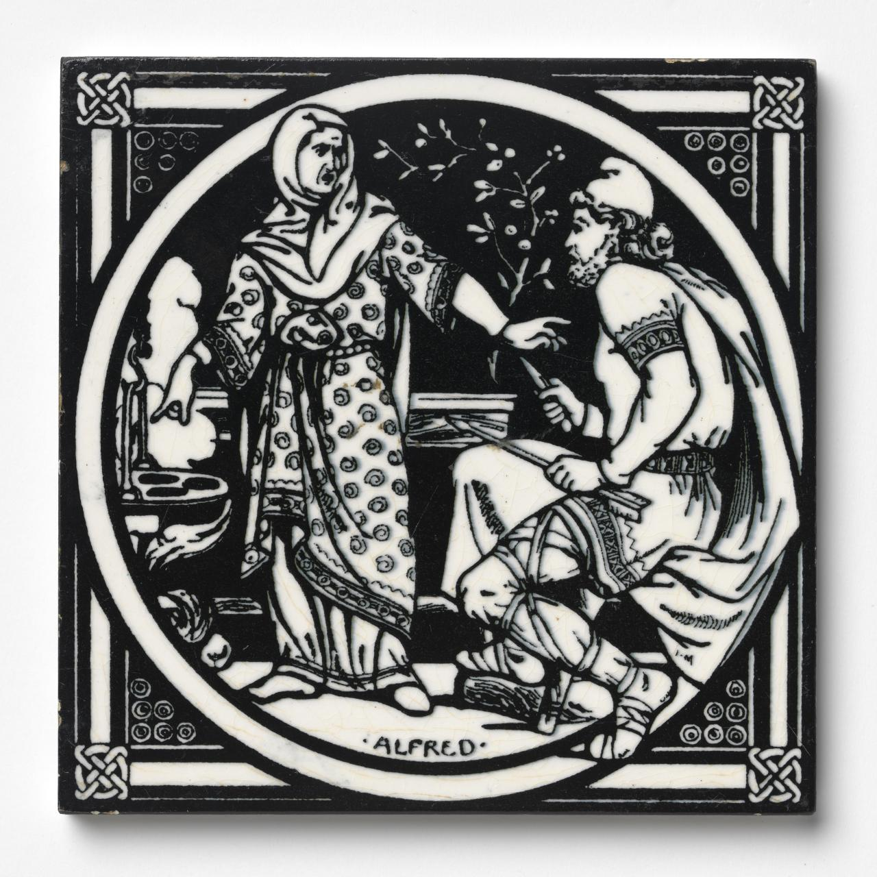 Alfred in the Danish camp, tile