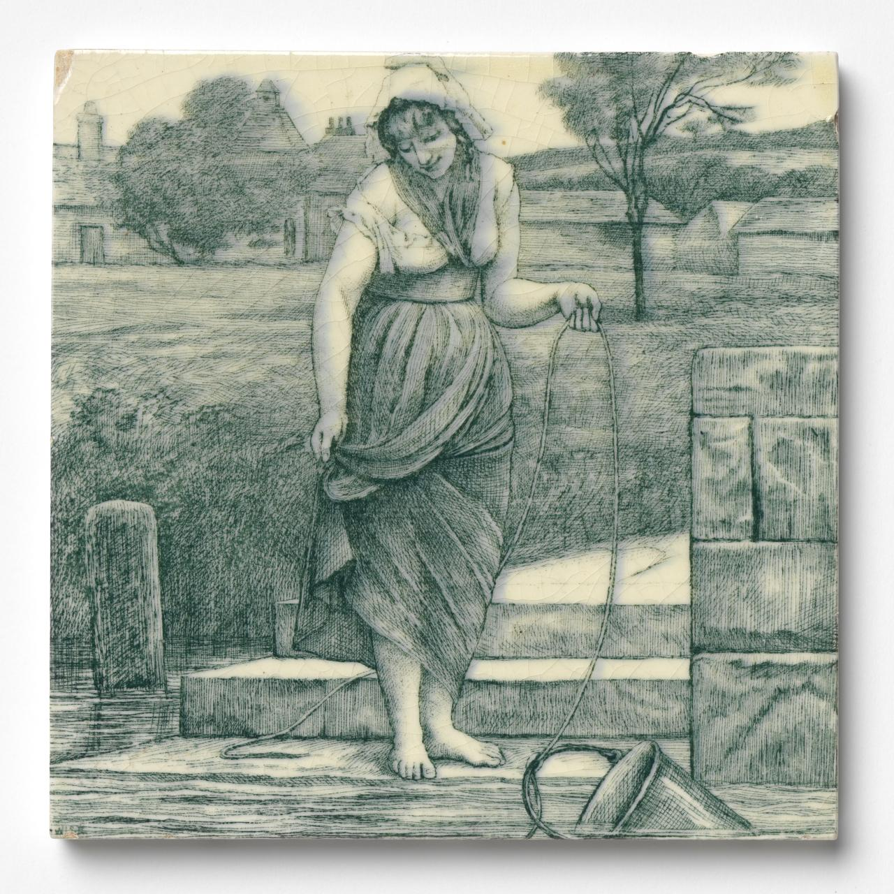 (Woman at the well), tile