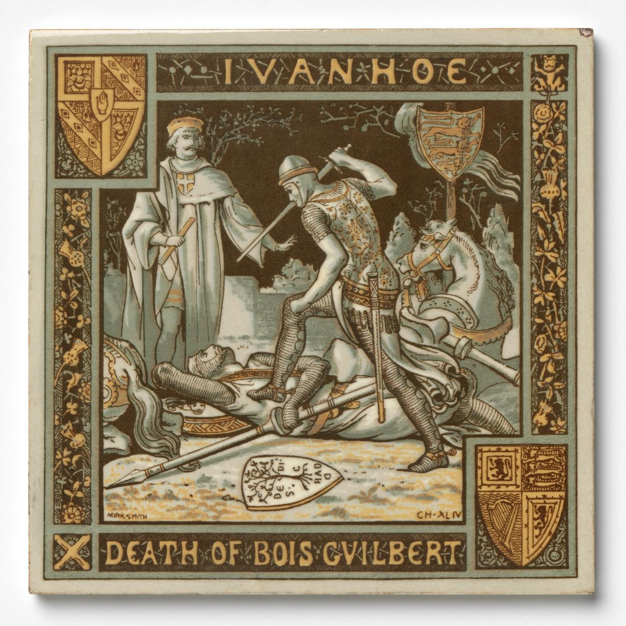 Ivanhoe: The death of Bois Gilbert, ch XLIV, tile