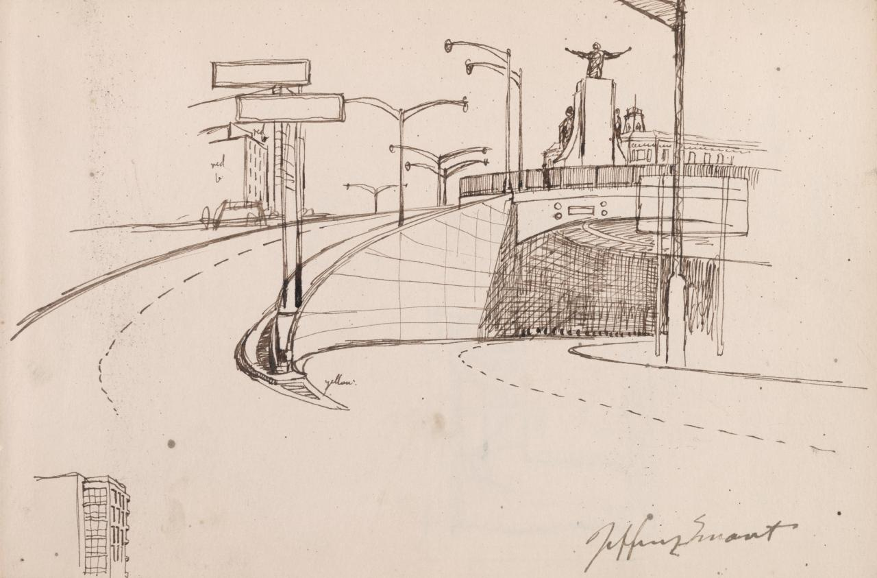 First drawing for Cahill Expressway