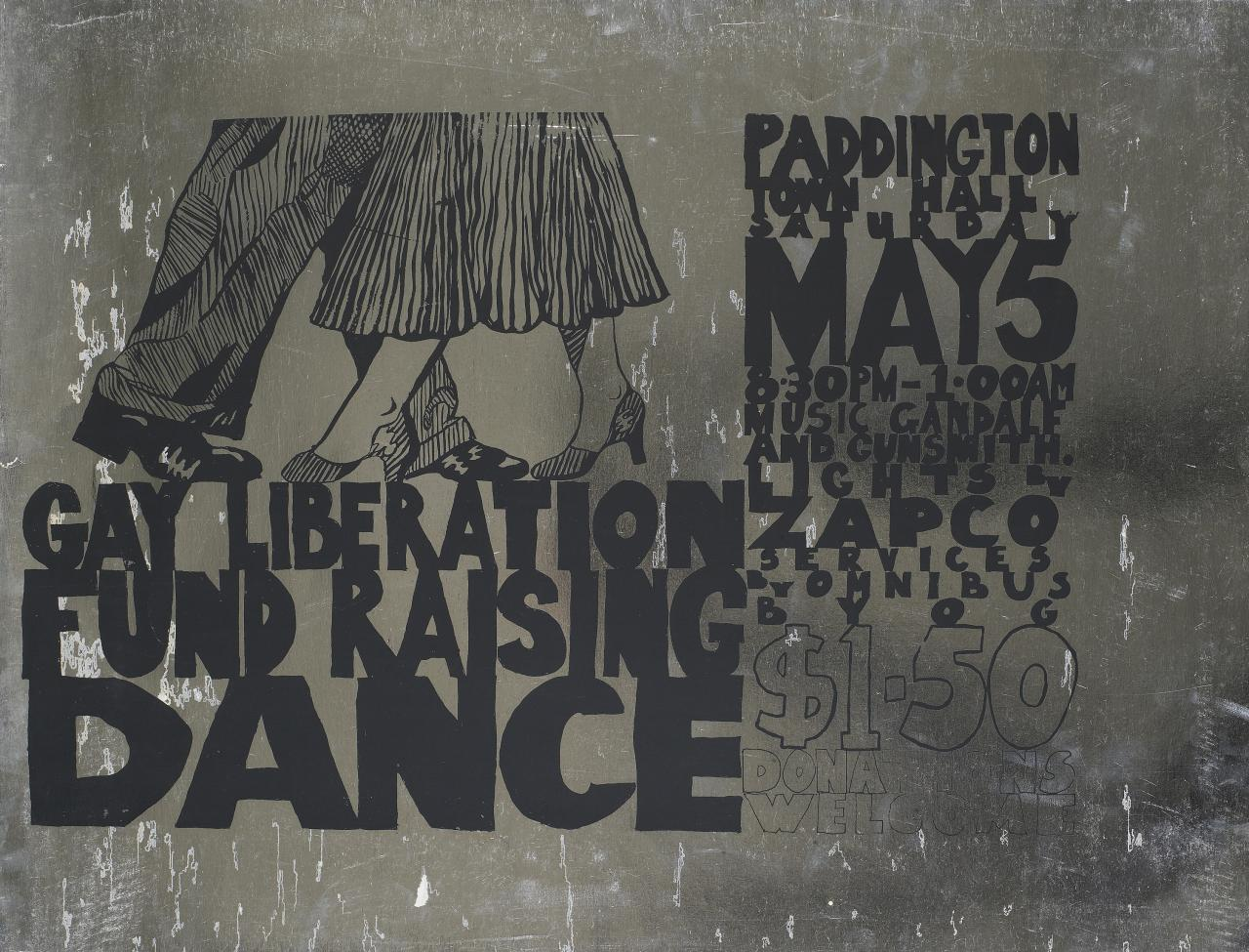 Gay liberation fundraising dance