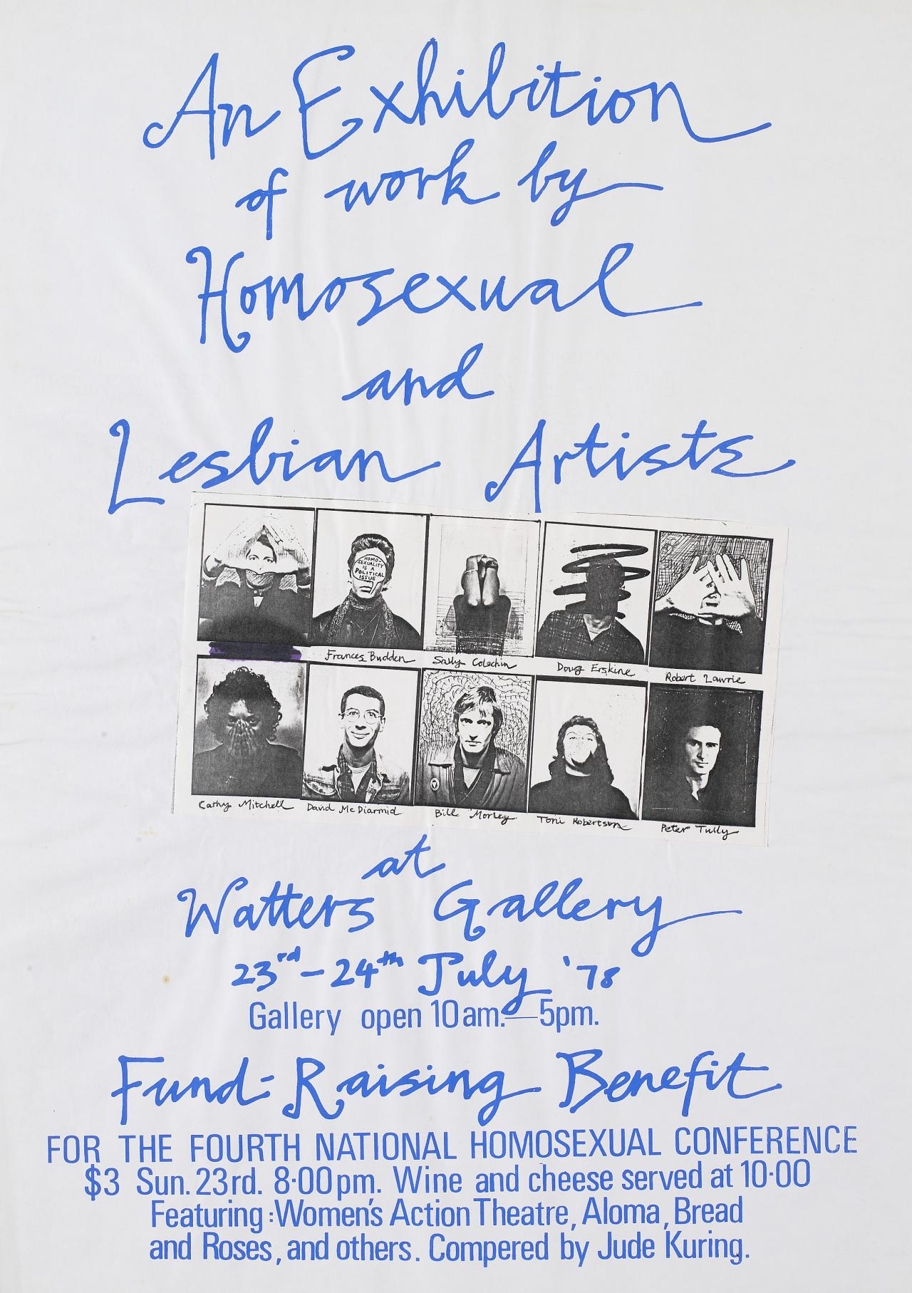An exhibition of work by homosexual and lesbian artists