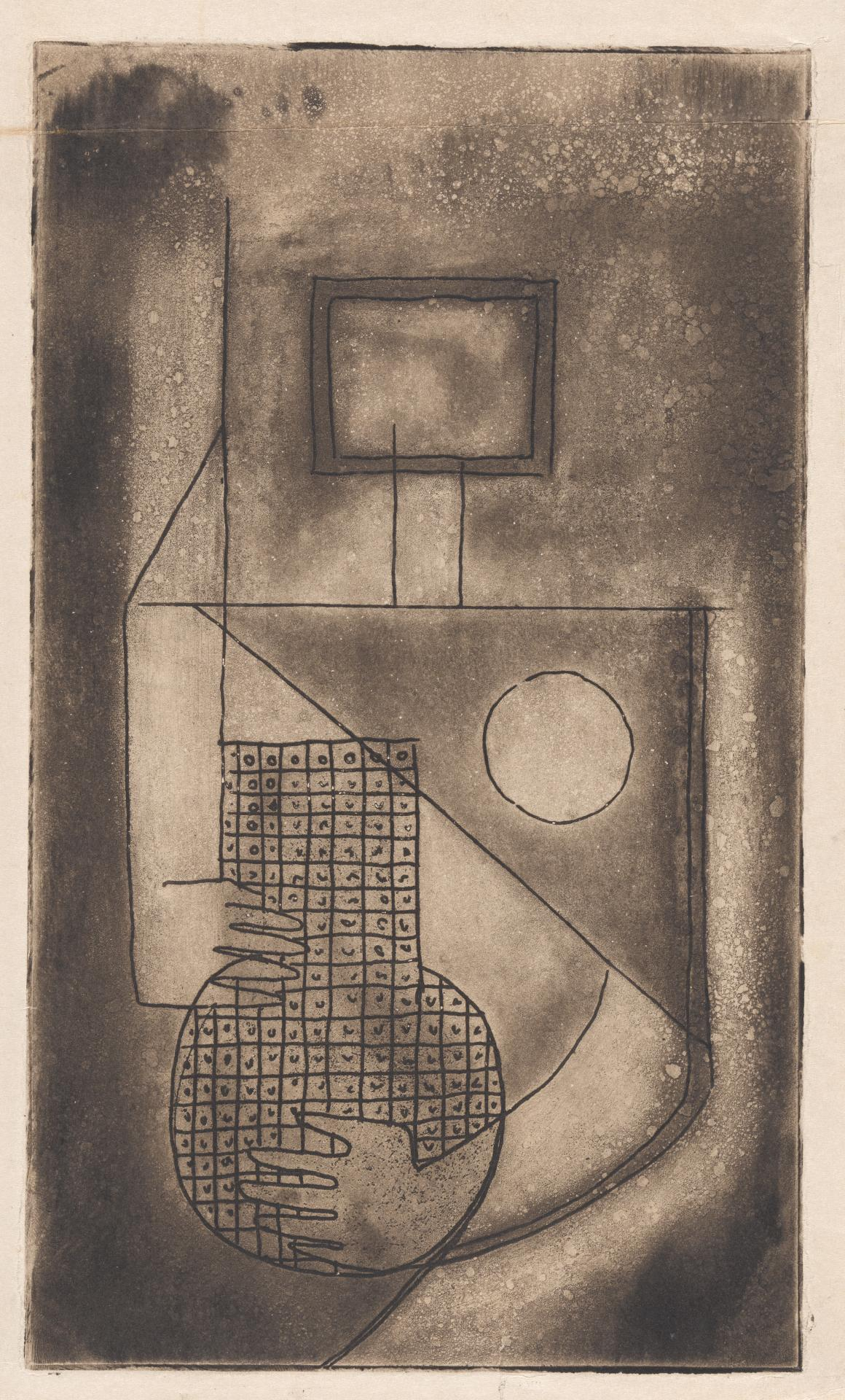 (Cubist form with vase)