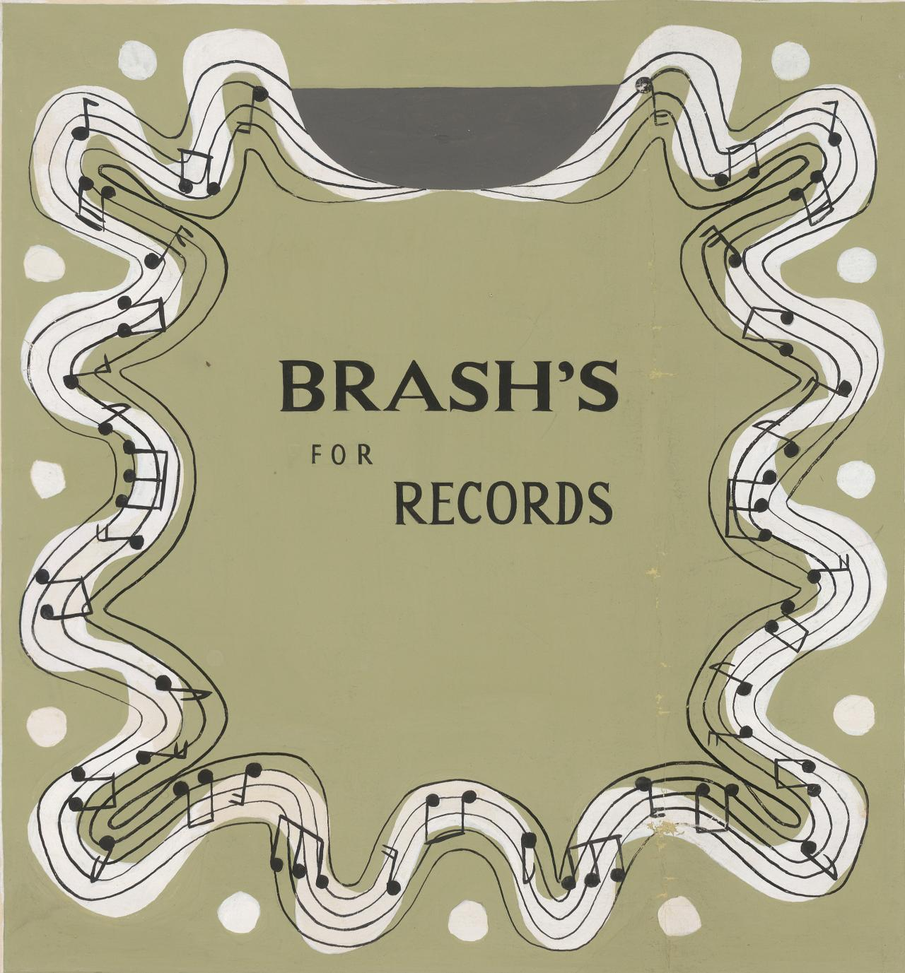 Design for record cover Brash's for records