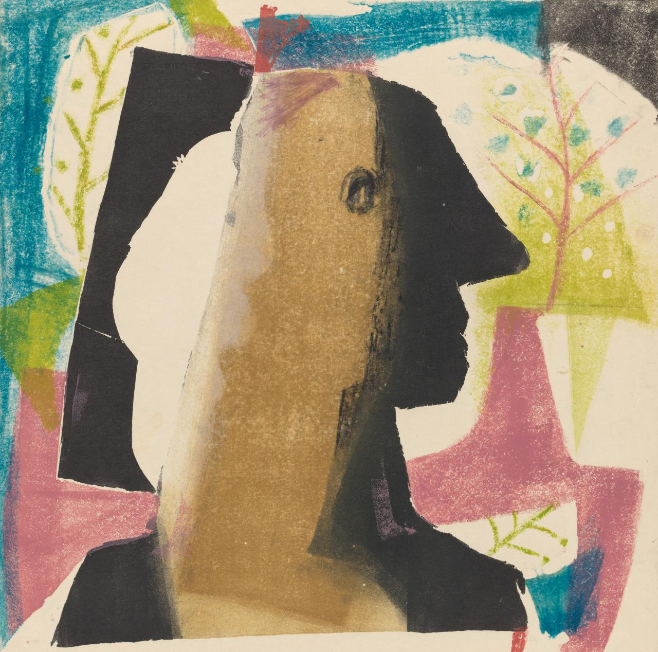(Abstract head and trees)