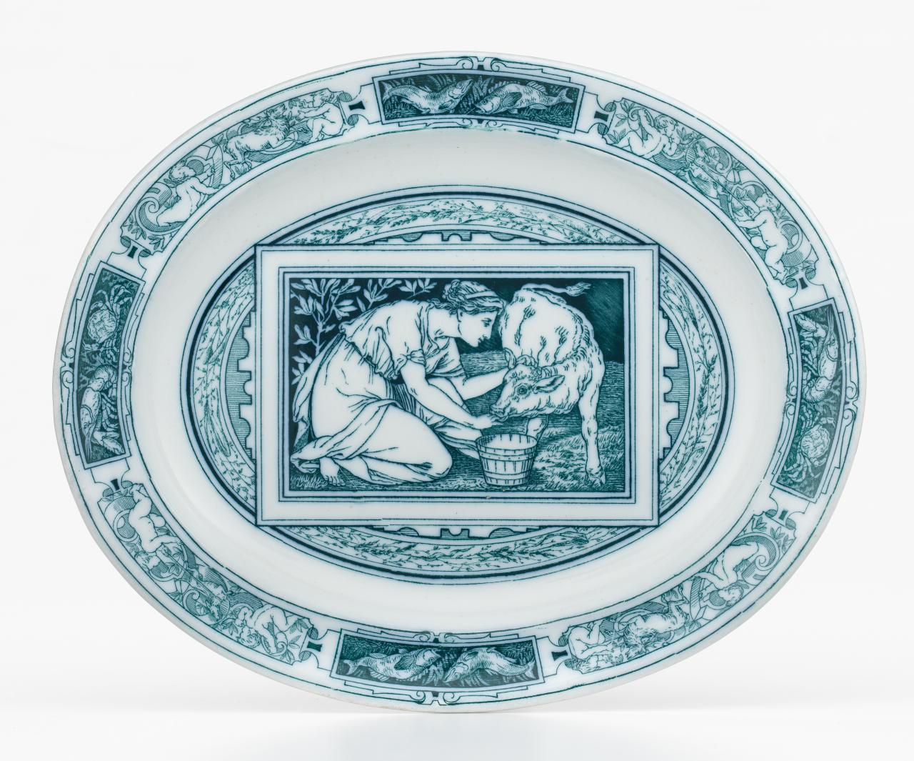 Banquet service pattern, serving plate