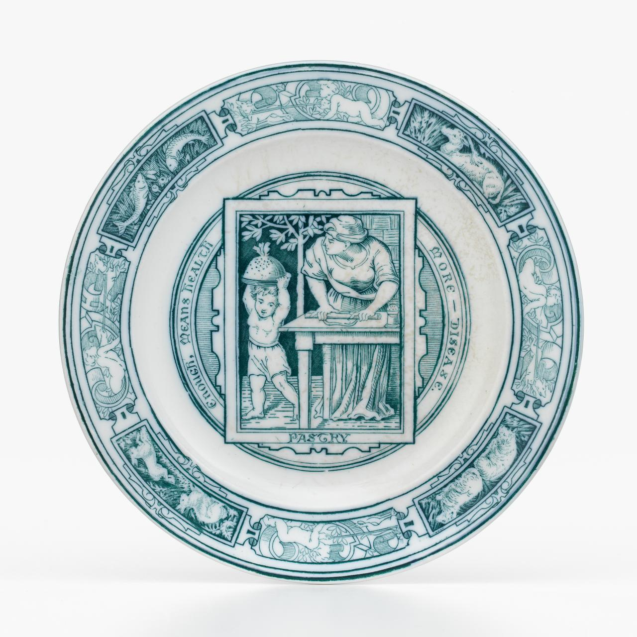 Banquet service pattern, side plate