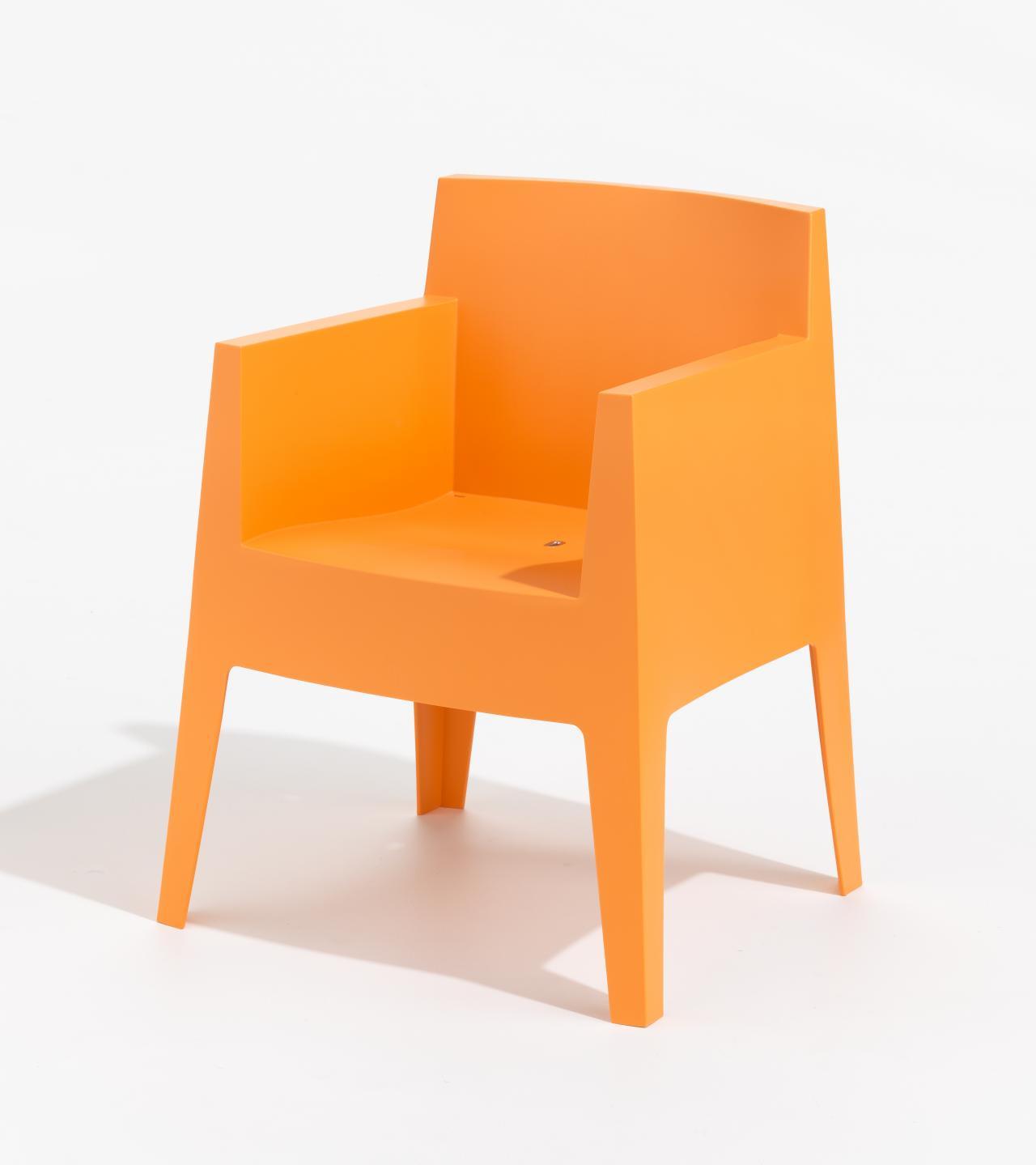 toy armchair orange philippe starck designer driade milan