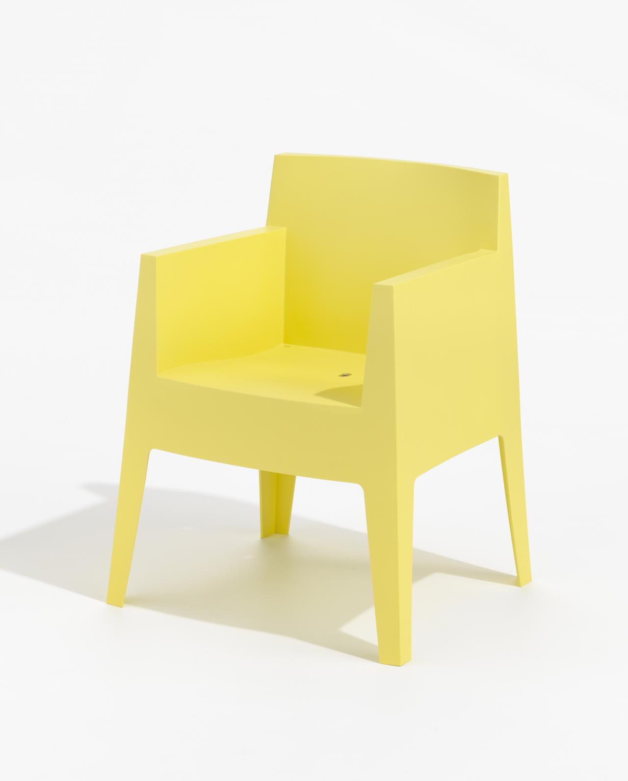toy armchair yellow philippe starck designer driade milan