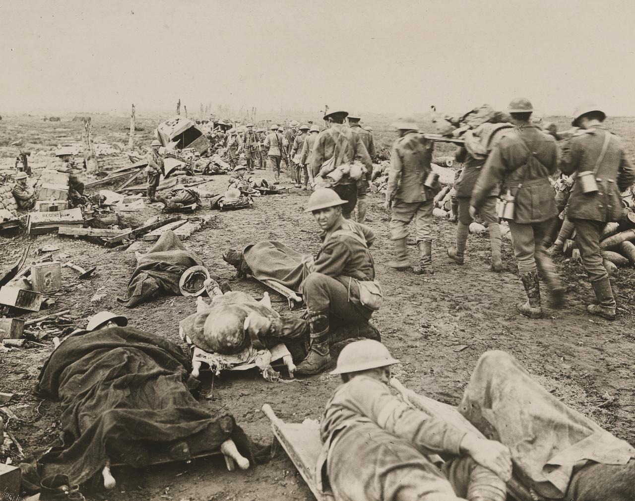 No title (Soldiers laying on stretchers)