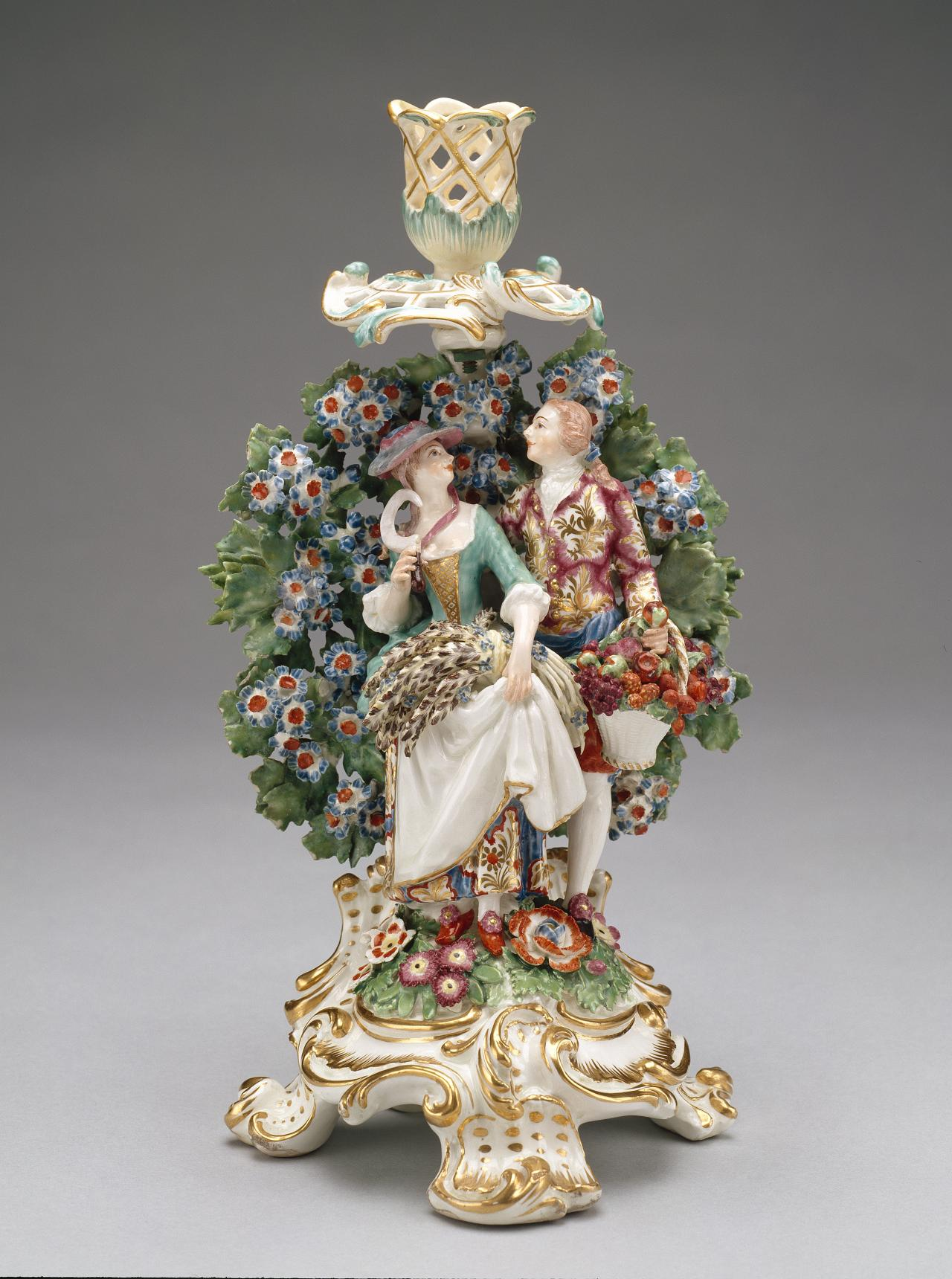 Summer and autumn, from The four seasons, candlestick