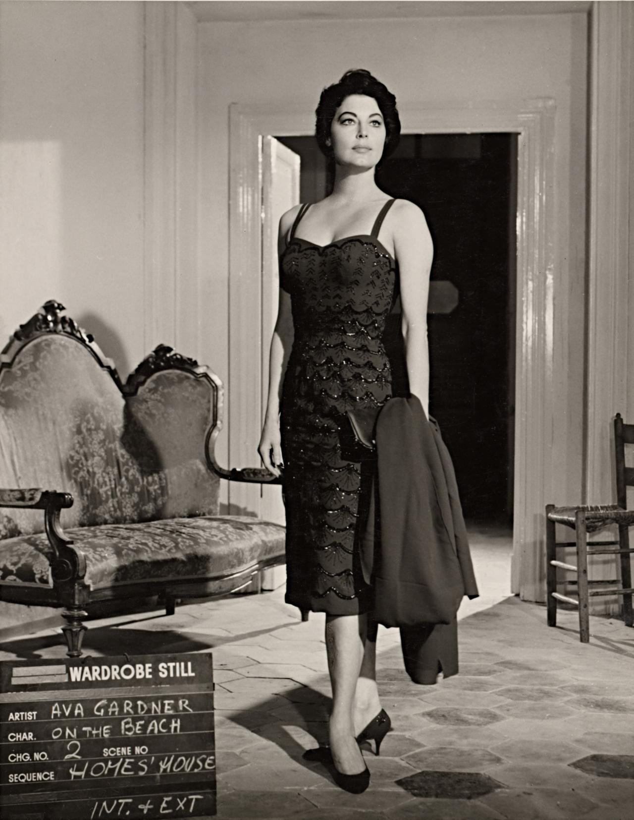 No title (Ava Gardner in wardrobe still for On the beach: Homes' house)