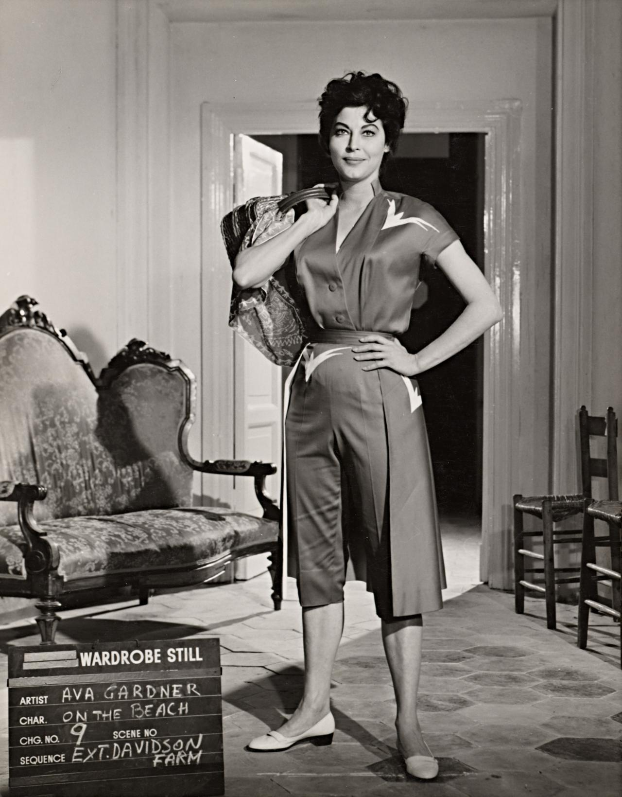 No title (Ava Gardner in wardrobe still for On the beach: Davidson farm)
