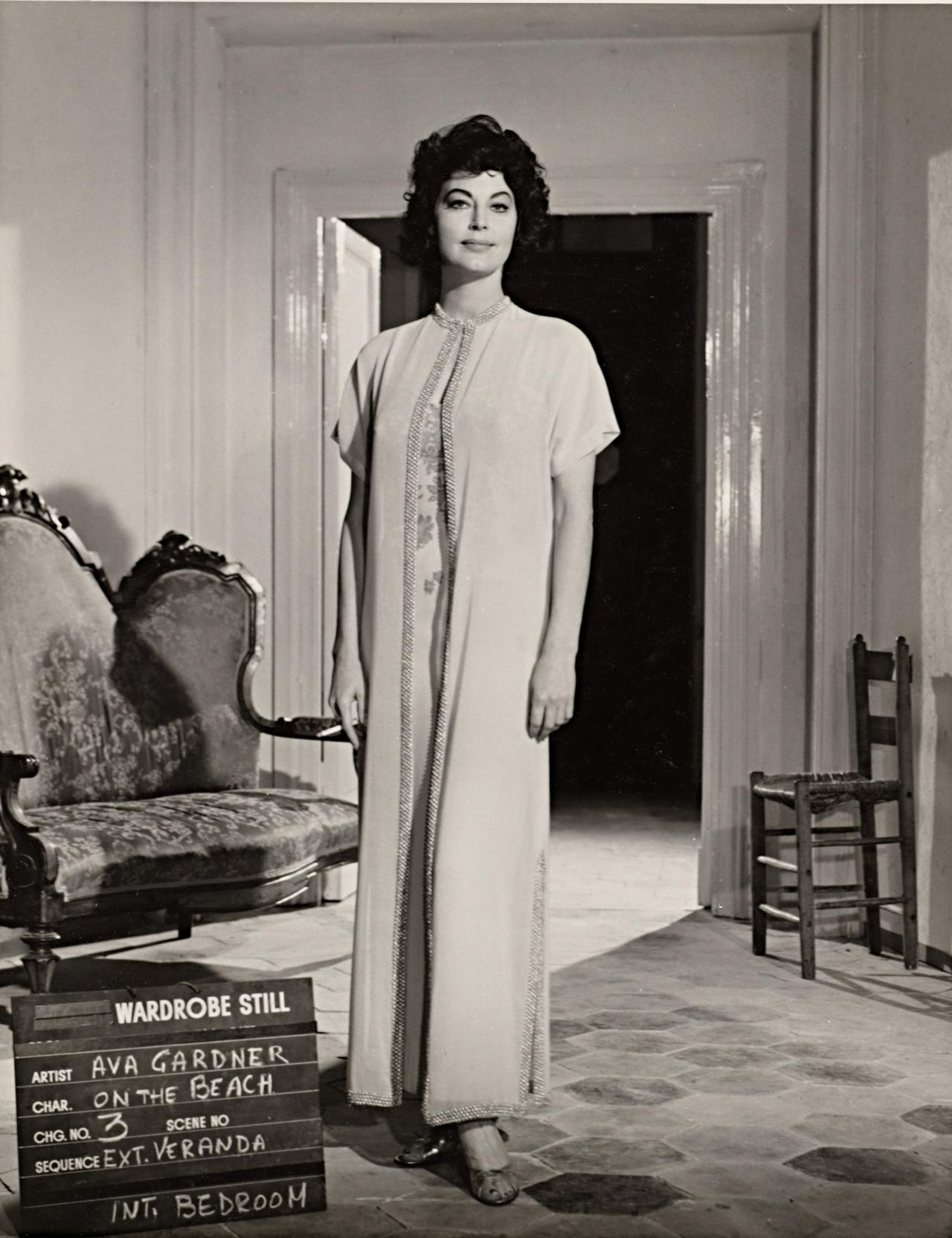 No title (Ava Gardner in wardrobe still for On the beach: Verandah and bedroom)