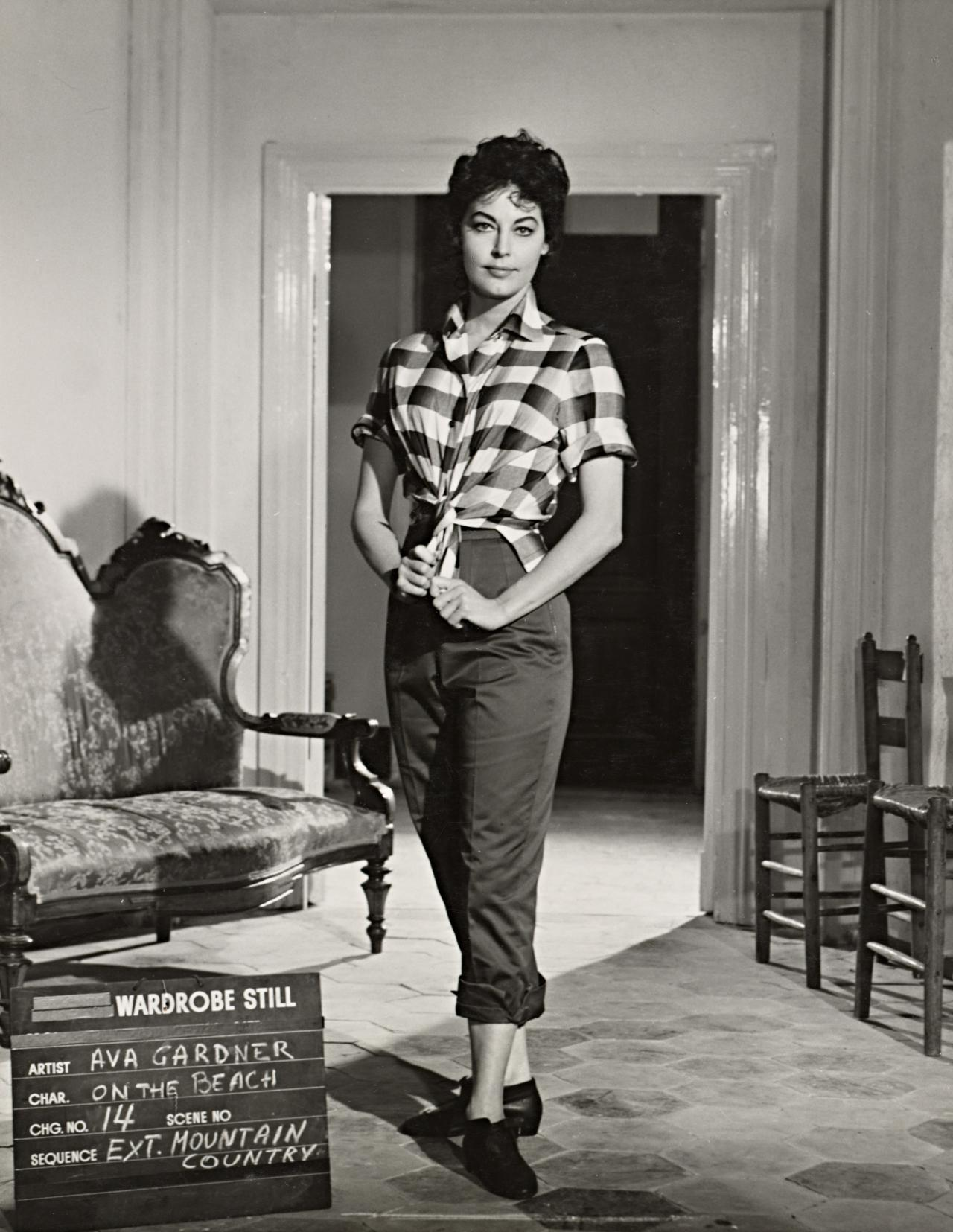 No title (Ava Gardner in wardrobe still for On the beach: Mountain country)