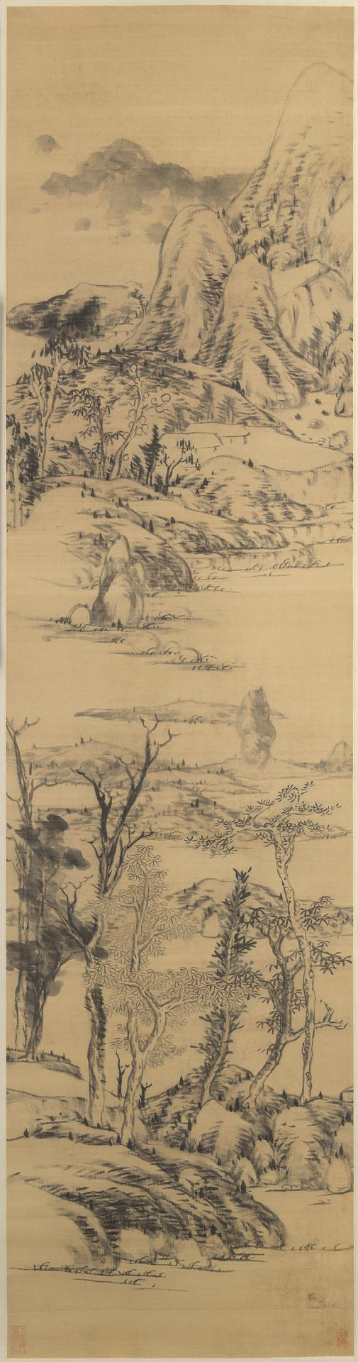Landscape in the style of Wang Meng, (c. 1309-1385)