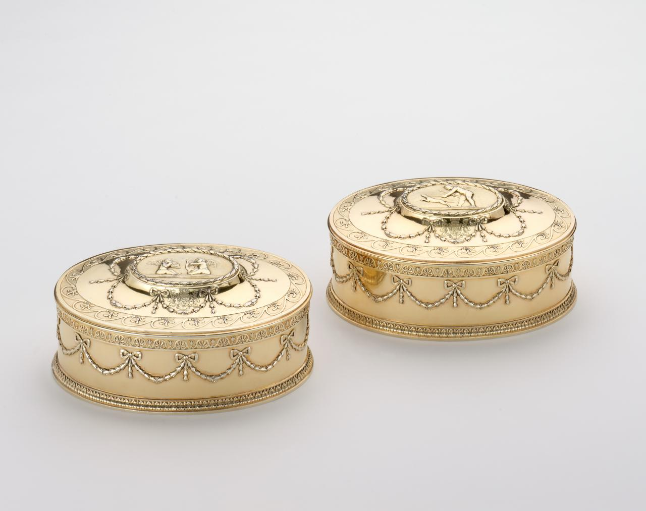 Pair of boxes from the Countess of Westmorland toilet service