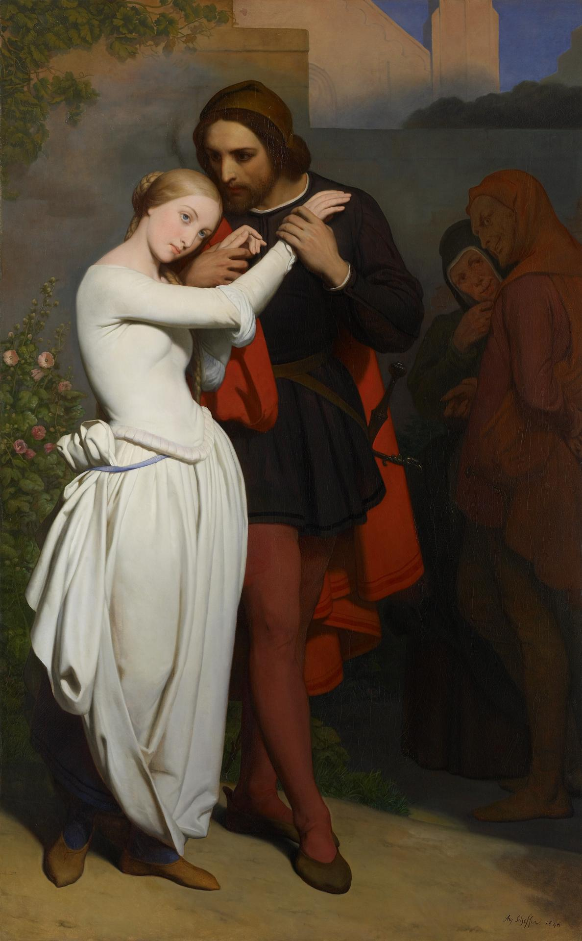 Marguerite and Faust in the garden