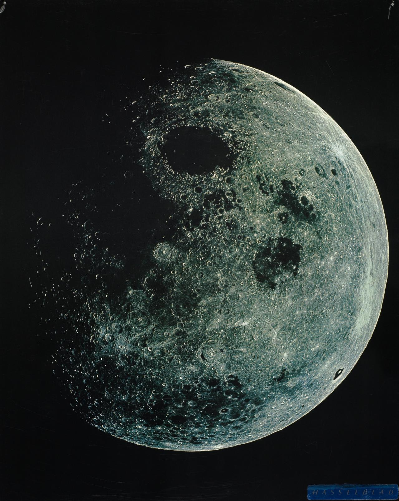 The moon, December 1968, taken from Apollo Spacecraft