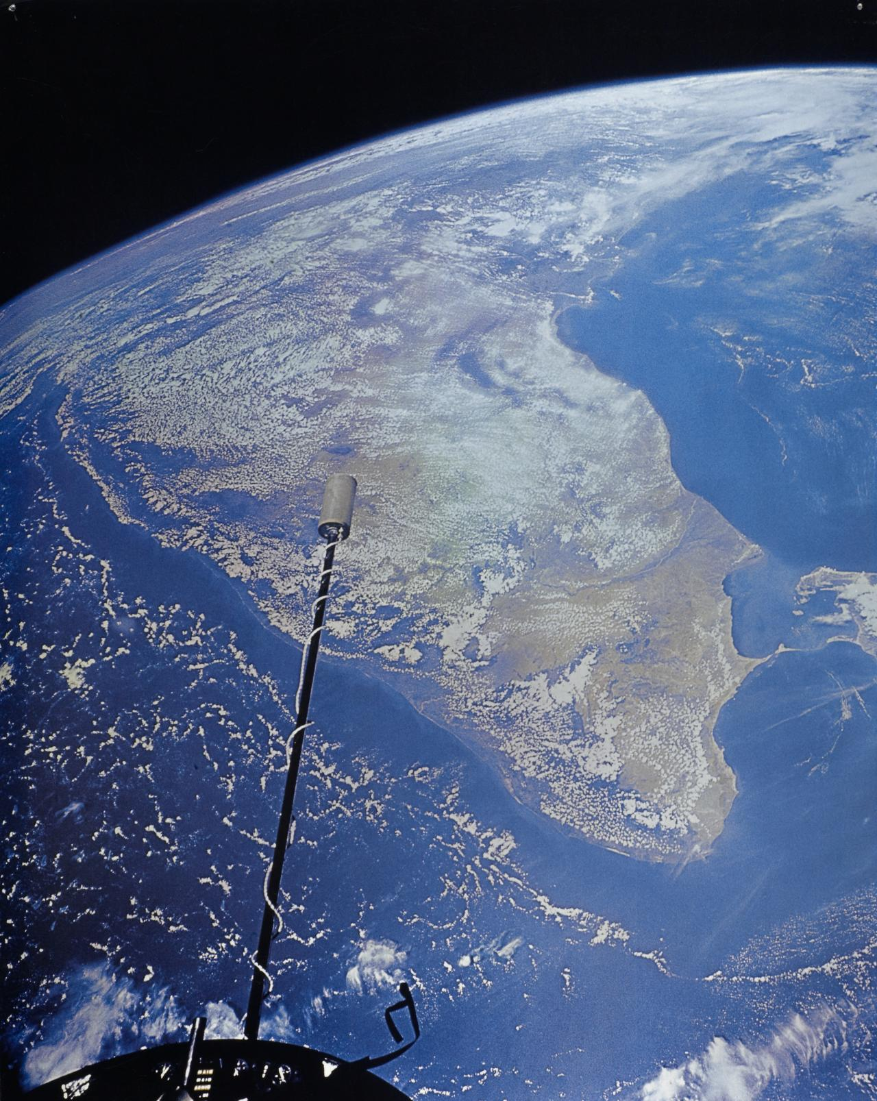 India and Ceylon from spacecraft eight hundred miles up
