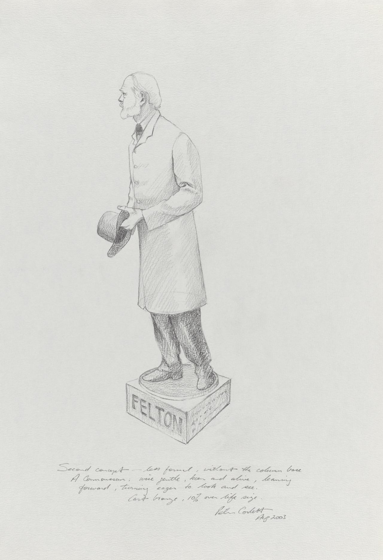 (Preliminary drawing for a Centenary Sculpture of Alfred Felton)