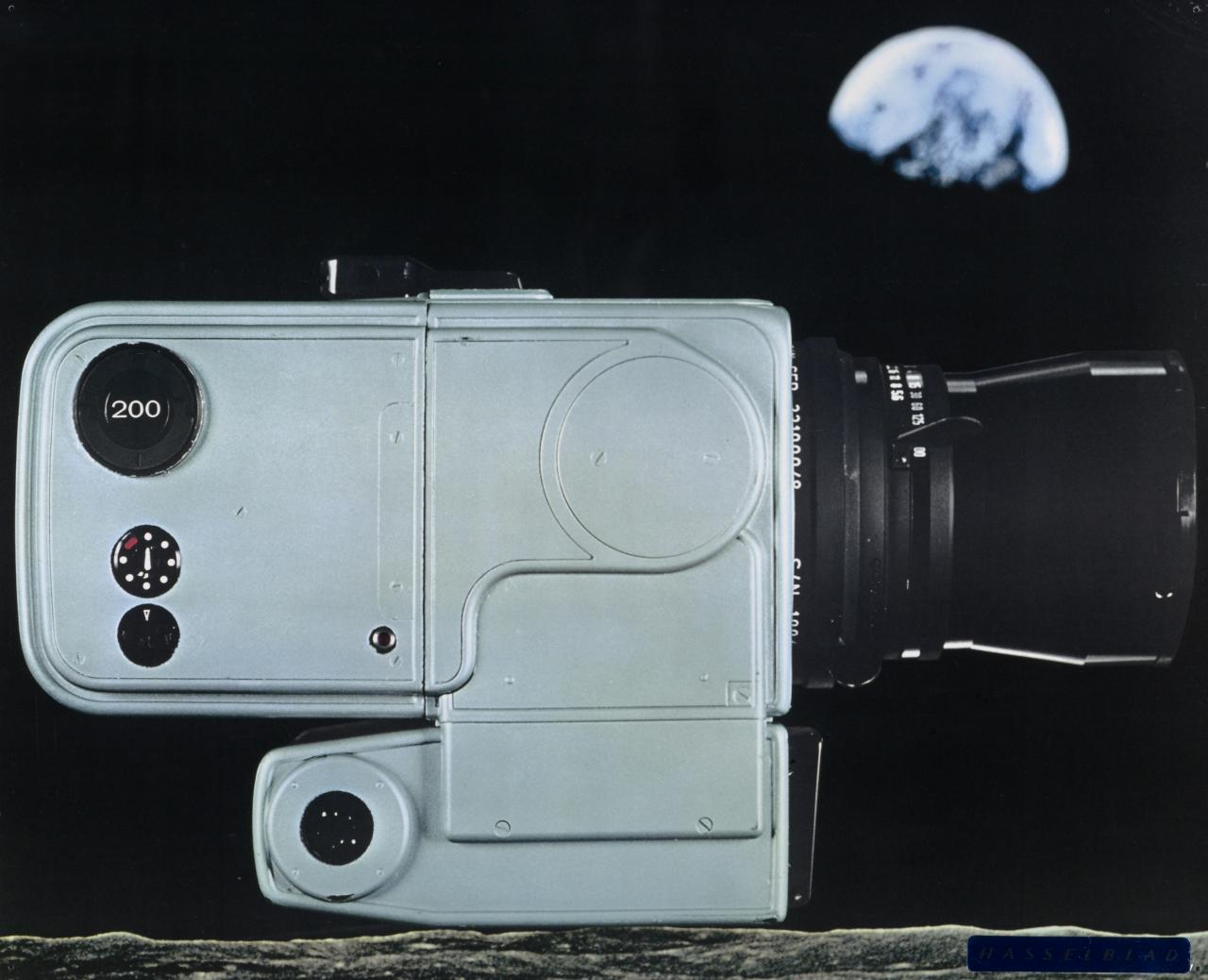Hasselblad camera as used, and left, on the moon