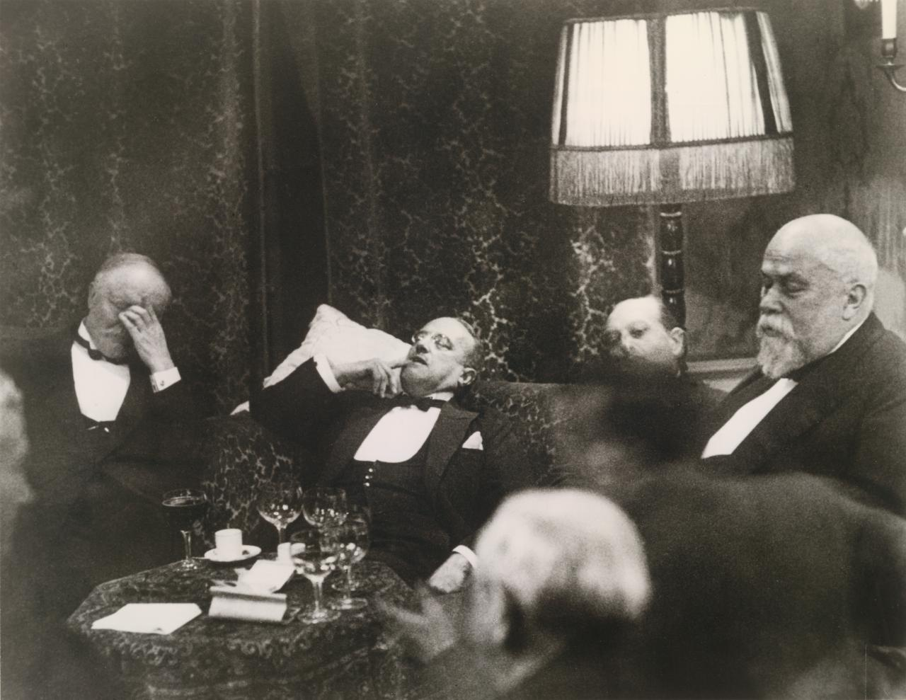Second Hague Conference on Reparations, January 1930, in the early morning hours