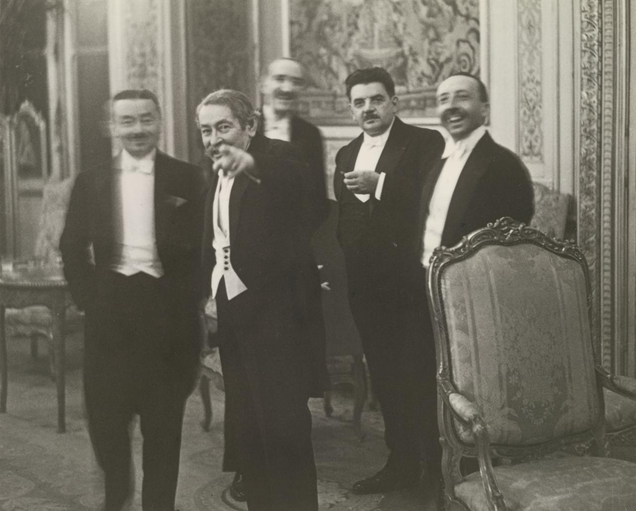 Banquet at the Quai d'Orsay, Paris, August 1931. 'A le voilà, le roi des indiscrets!'