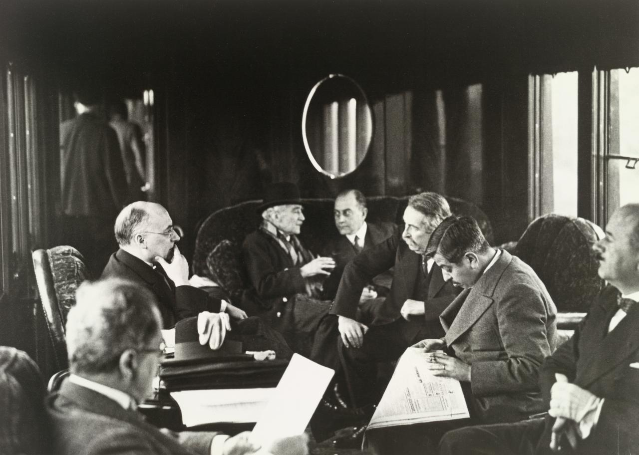 Train Journey of the French and German Ministers to a conference in London, July 1931
