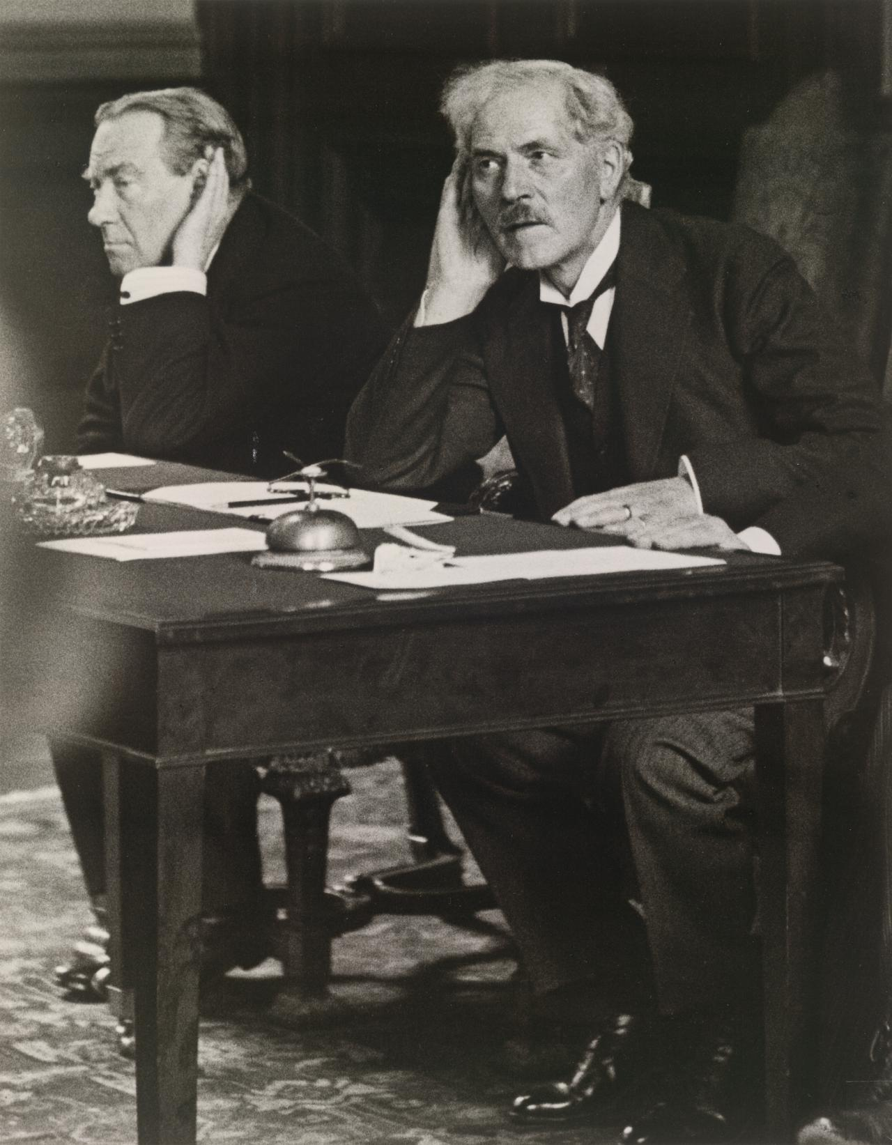 Stanley Baldwin and Ramsay Mac Donald at a Press Conference at the Foreign Office, 26 August 1931