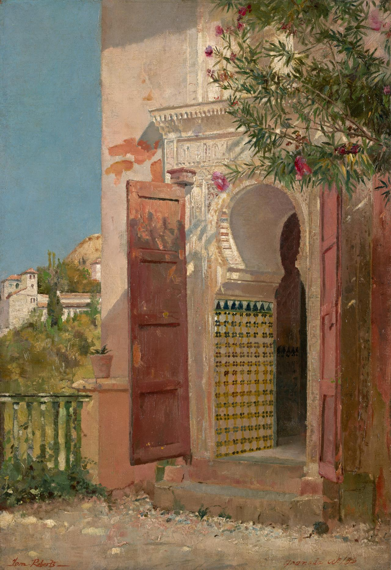 (A Moorish doorway)