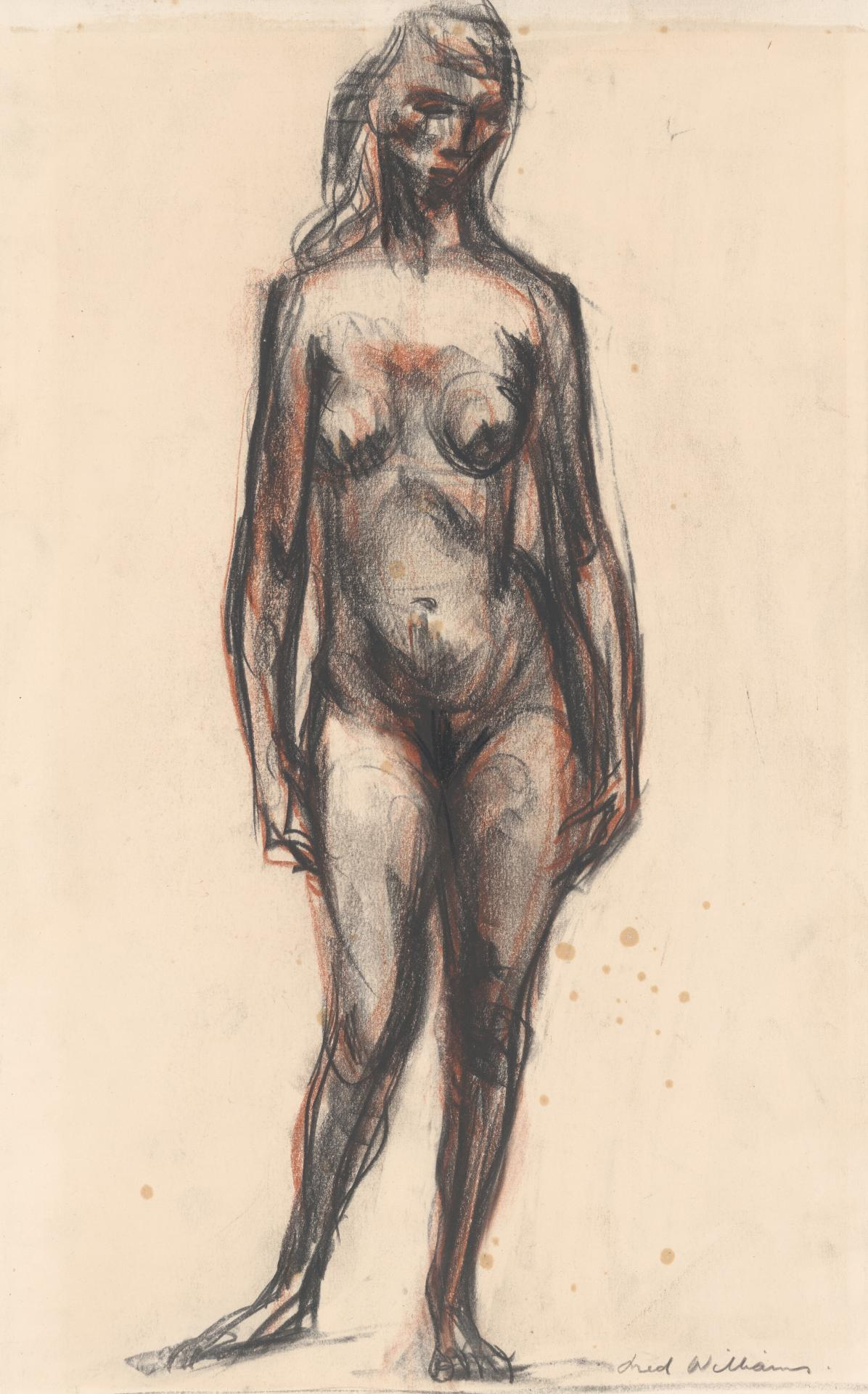 (Untitled) (Standing female nude)
