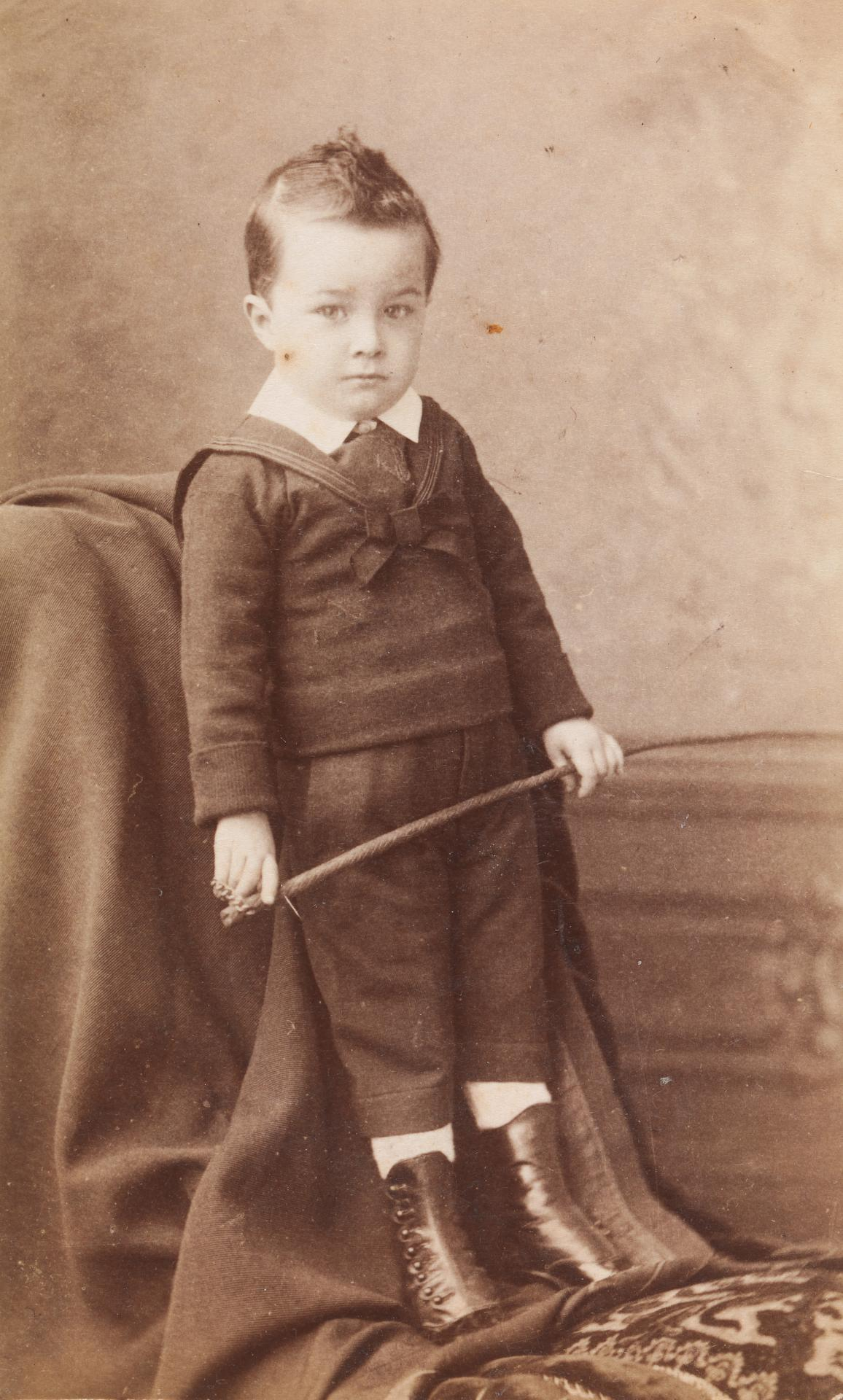 No title (Very young boy, about three years old), carte-de-visite