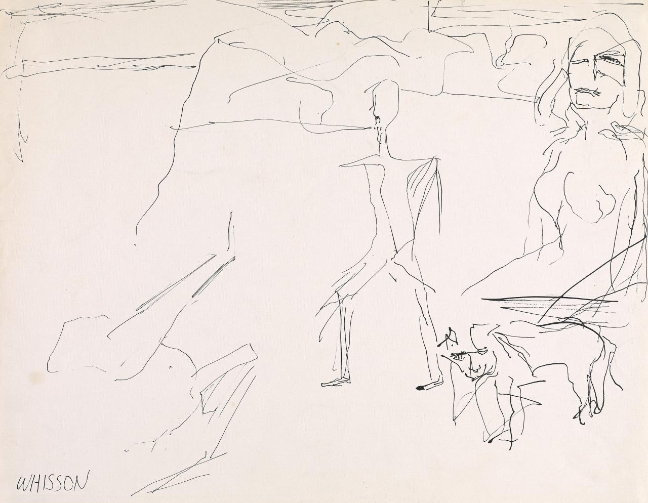 (Untitled) (Two figures and a dog)