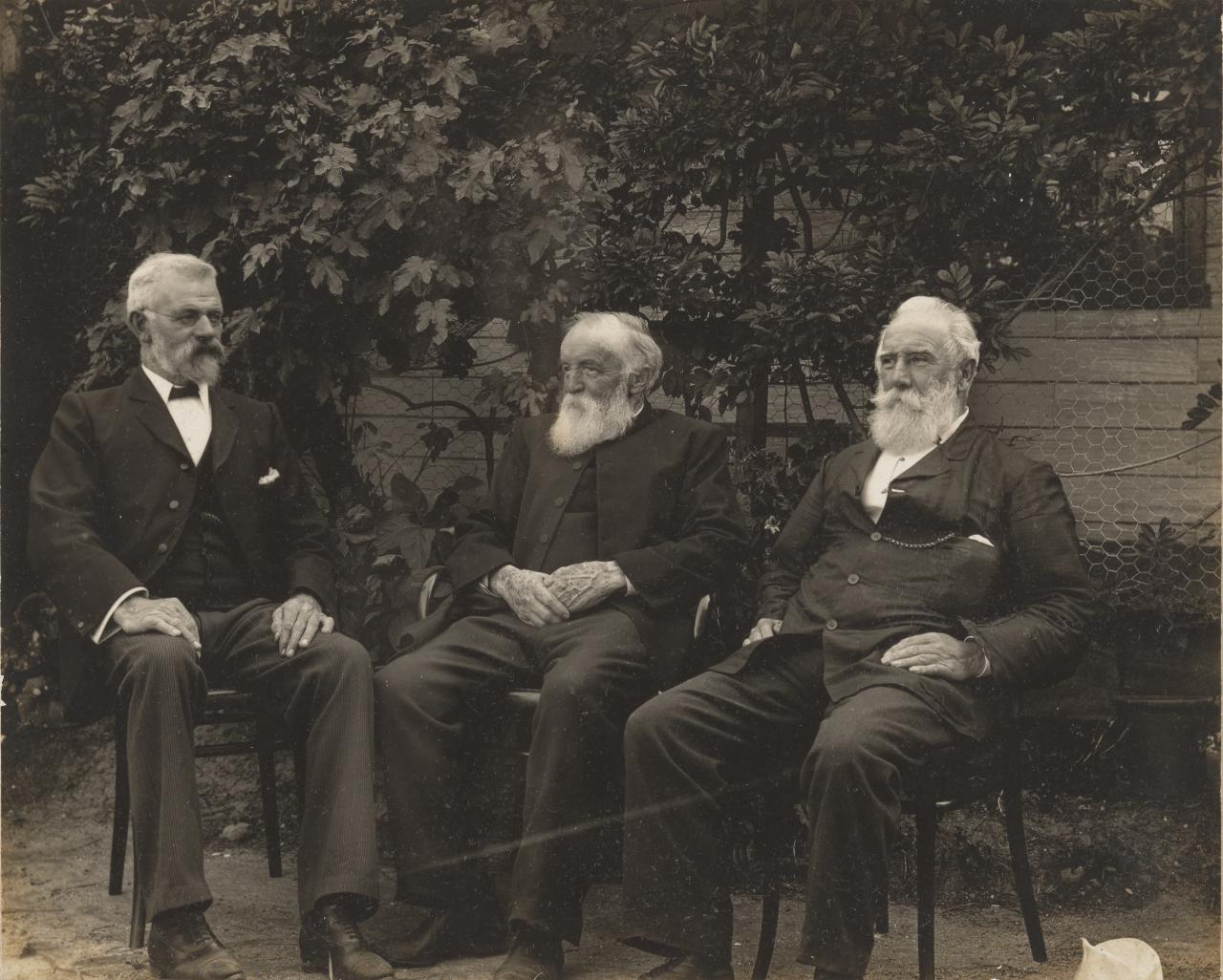 Messrs Eggers, Bulmer, and Golding seated, Paris panel