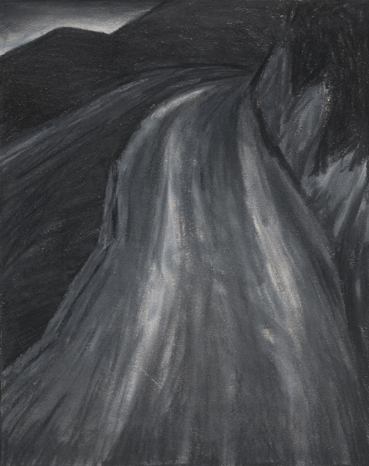 Drawing (Landscape with road)
