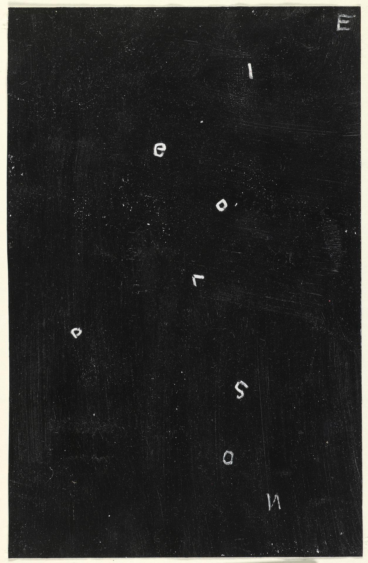 Untitled (white letters on black ground)