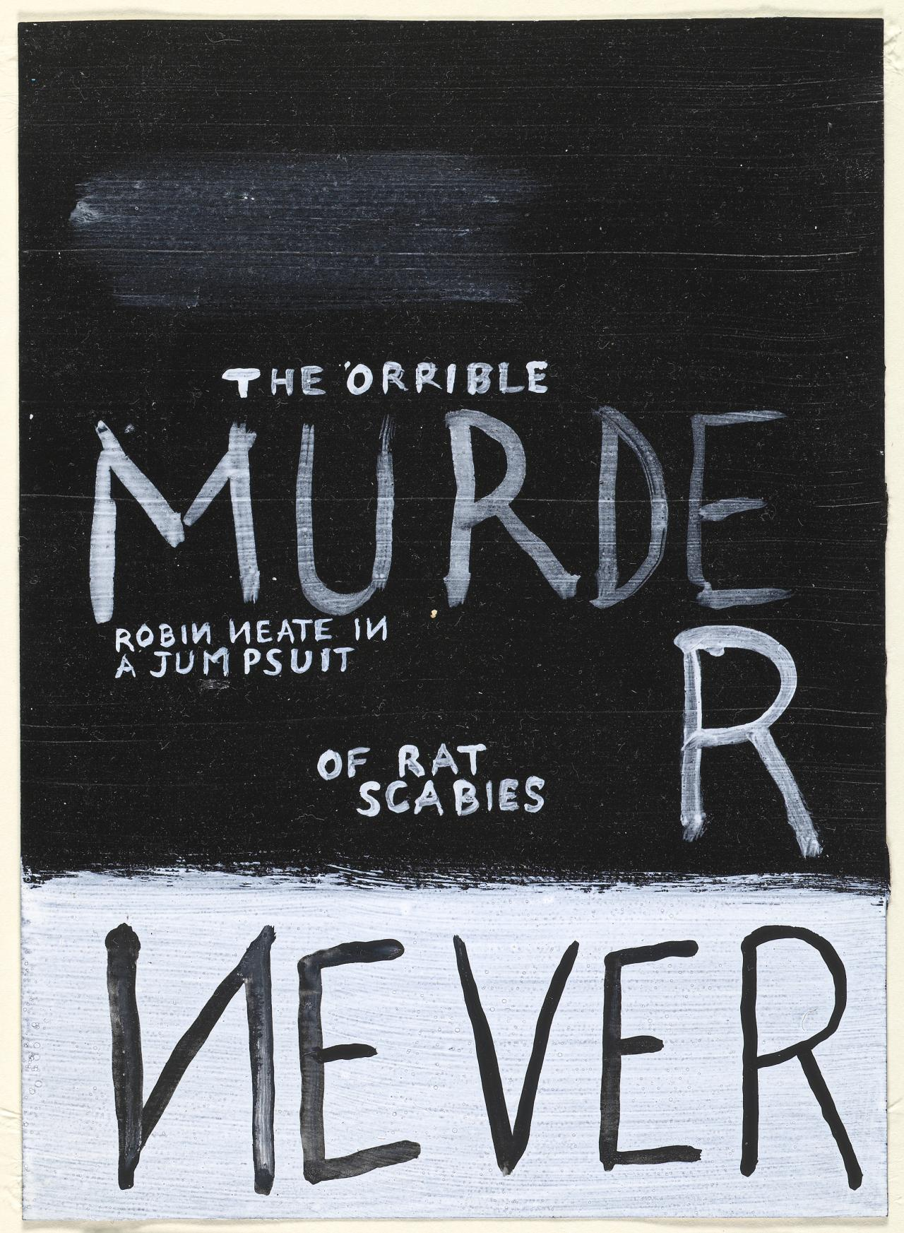 The 'orrible murder