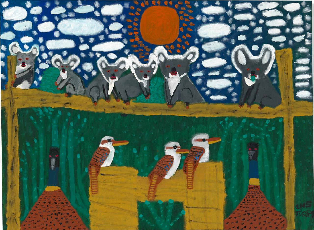 The birds and animals of the Dreamtime