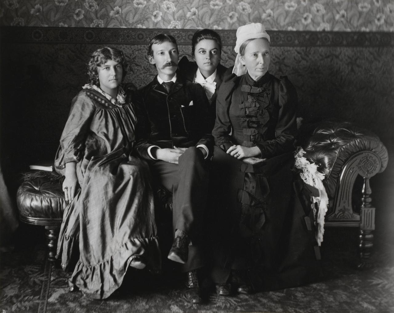Robert Louis Stephenson, his wife, mother and step-sister, Sydney
