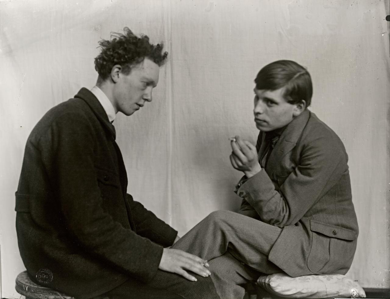 The painters Gottfried Brockman and Willi Bongard, Cologne, 1924
