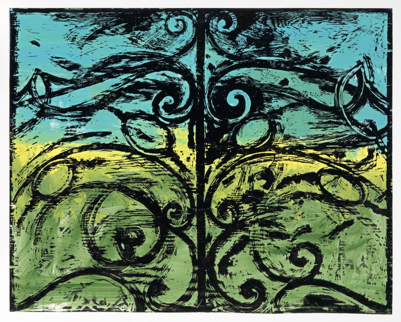 The first woodcut gate (The landscape)