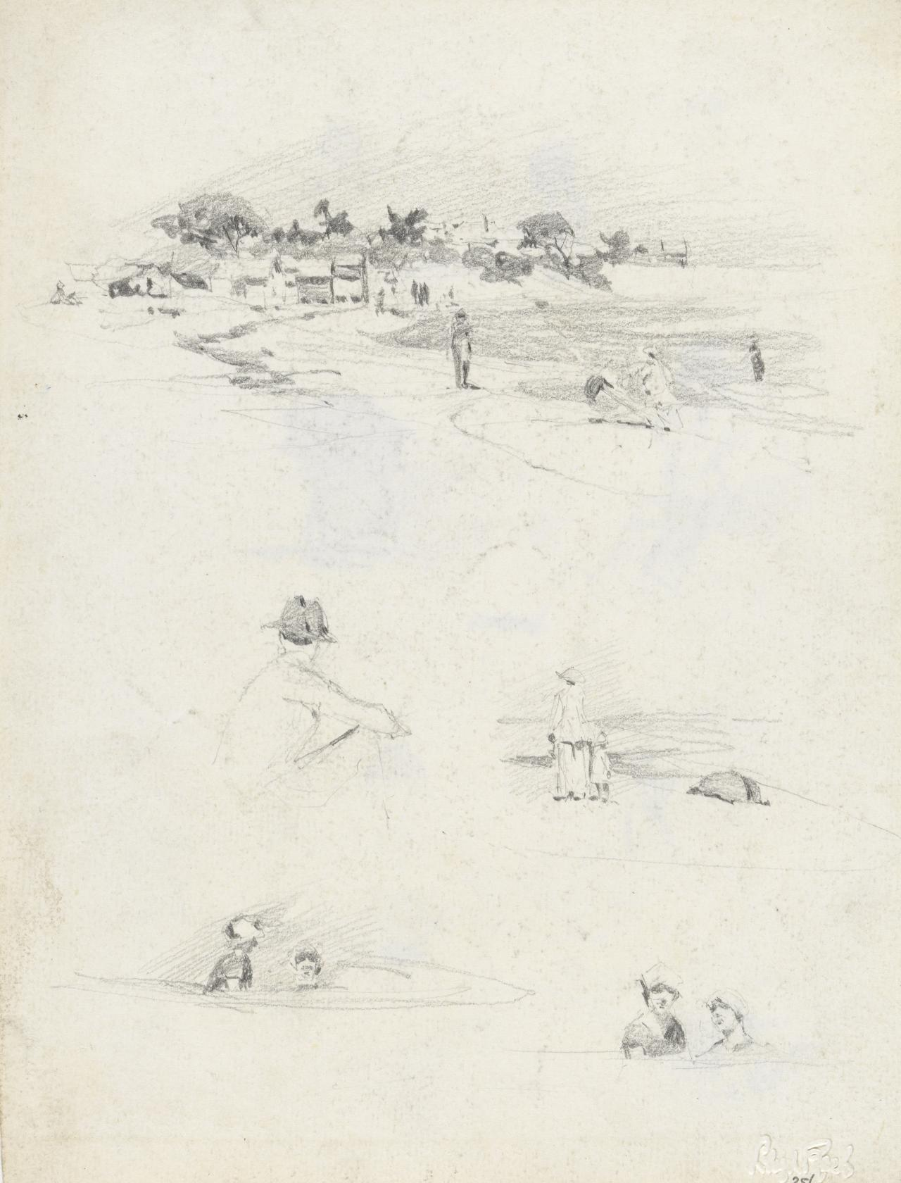 (Middle Brighton Beach, with figure studies)