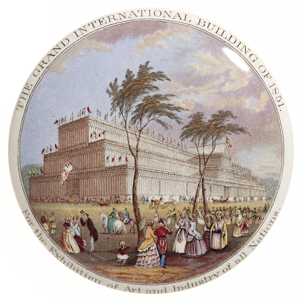 The Grand International Building of 1851 for The Great Exhibition of the works of Industry of All Nations, pot lid