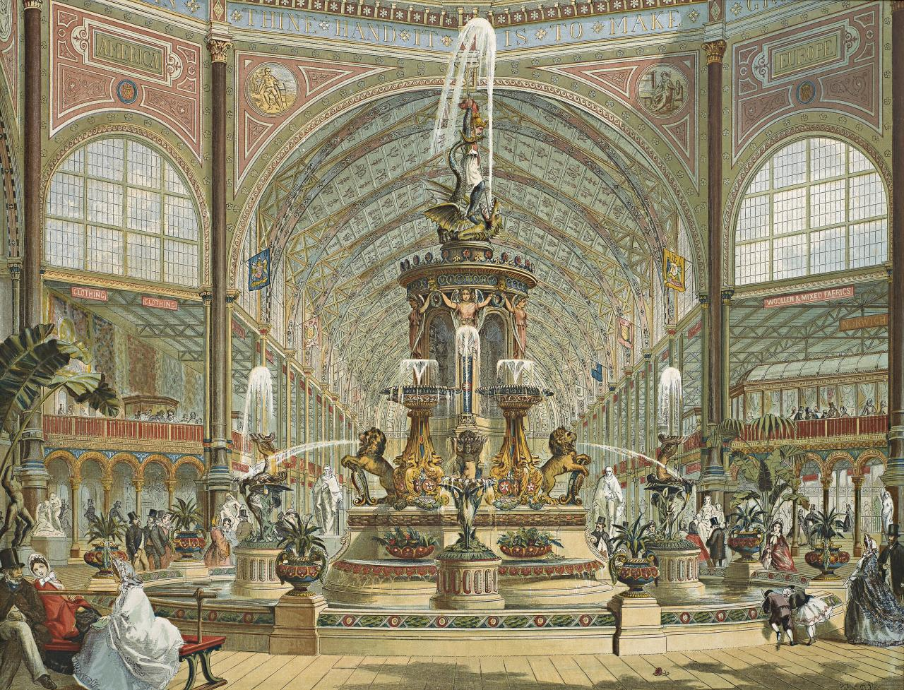 Minton fountain, International Exhibition London