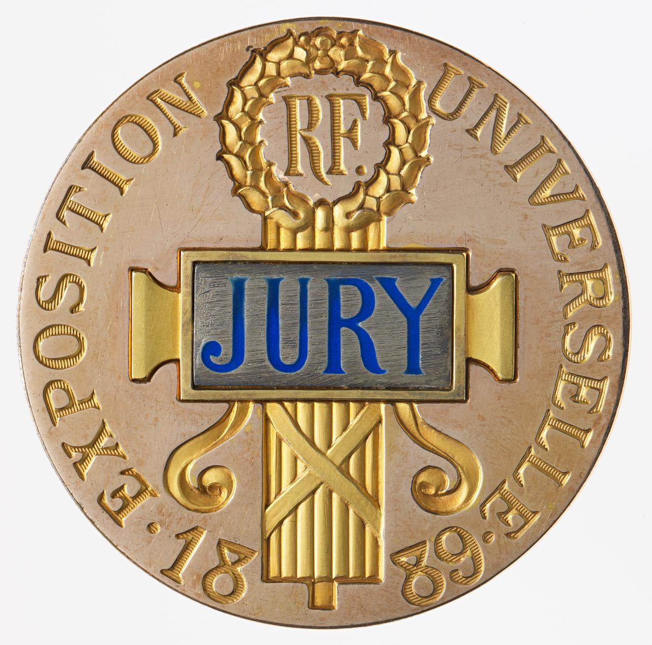 Universal Exposition, Paris, jury service badge and box